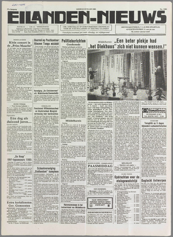 Eilanden-nieuws. Christelijk streekblad op gereformeerde grondslag 1985-03-26