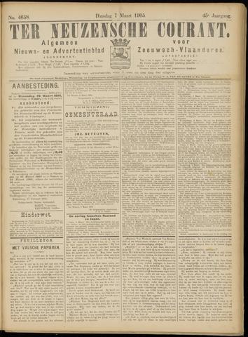 Ter Neuzensche Courant. Algemeen Nieuws- en Advertentieblad voor Zeeuwsch-Vlaanderen / Neuzensche Courant ... (idem) / (Algemeen) nieuws en advertentieblad voor Zeeuwsch-Vlaanderen 1905-03-07