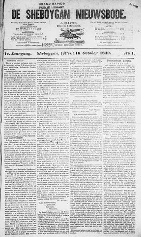 Sheboygan Nieuwsbode 1849-10-16