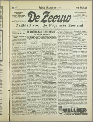 De Zeeuw. Christelijk-historisch nieuwsblad voor Zeeland 1930-08-15