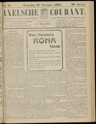 Axelsche Courant 1912-11-27