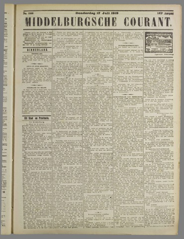 Middelburgsche Courant 1919-07-17