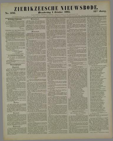 Zierikzeesche Nieuwsbode 1885-10-01