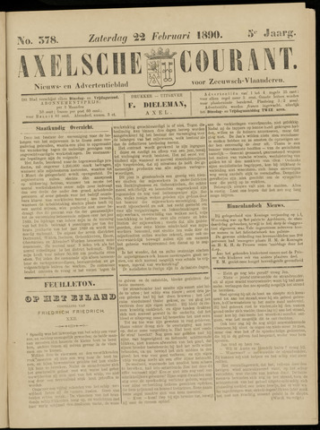 Axelsche Courant 1890-02-22