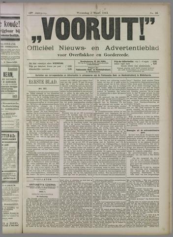 """""""Vooruit!""""Officieel Nieuws- en Advertentieblad voor Overflakkee en Goedereede 1913-03-05"""