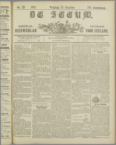 De Zeeuw. Christelijk-historisch nieuwsblad voor Zeeland 1912-10-25