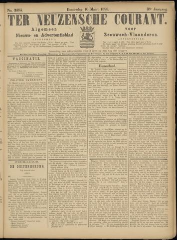 Ter Neuzensche Courant. Algemeen Nieuws- en Advertentieblad voor Zeeuwsch-Vlaanderen / Neuzensche Courant ... (idem) / (Algemeen) nieuws en advertentieblad voor Zeeuwsch-Vlaanderen 1898-03-10