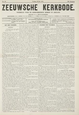 Zeeuwsche kerkbode, weekblad gewijd aan de belangen der gereformeerde kerken/ Zeeuwsch kerkblad 1934-07-20
