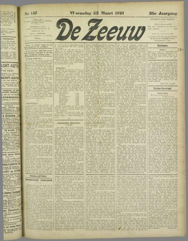 De Zeeuw. Christelijk-historisch nieuwsblad voor Zeeland 1921-03-23
