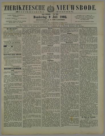 Zierikzeesche Nieuwsbode 1903-07-09