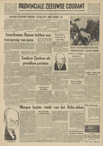 Provinciale Zeeuwse Courant 1957-11-04