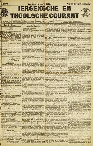Ierseksche en Thoolsche Courant 1919-04-05