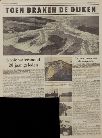 Watersnood documentatie 1953 - kranten 1973-01-31