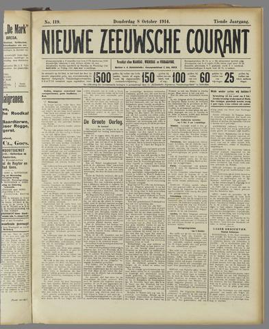 Nieuwe Zeeuwsche Courant 1914-10-08