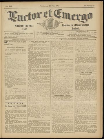 Luctor et Emergo. Antirevolutionair nieuws- en advertentieblad voor Zeeland / Zeeuwsch-Vlaanderen. Orgaan ter verspreiding van de christelijke beginselen in Zeeuwsch-Vlaanderen 1912-06-12