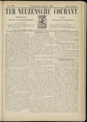 Ter Neuzensche Courant. Algemeen Nieuws- en Advertentieblad voor Zeeuwsch-Vlaanderen / Neuzensche Courant ... (idem) / (Algemeen) nieuws en advertentieblad voor Zeeuwsch-Vlaanderen 1880-08-14