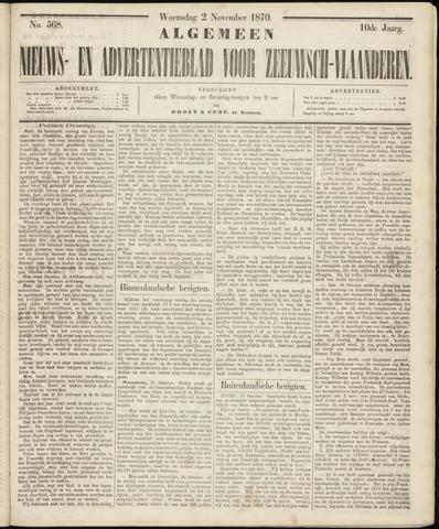Ter Neuzensche Courant. Algemeen Nieuws- en Advertentieblad voor Zeeuwsch-Vlaanderen / Neuzensche Courant ... (idem) / (Algemeen) nieuws en advertentieblad voor Zeeuwsch-Vlaanderen 1870-11-02