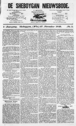 Sheboygan Nieuwsbode 1849-11-27