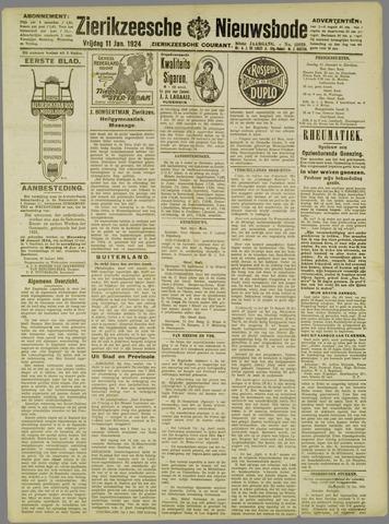 Zierikzeesche Nieuwsbode 1924-01-11