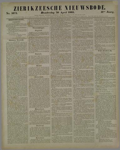 Zierikzeesche Nieuwsbode 1885-04-30
