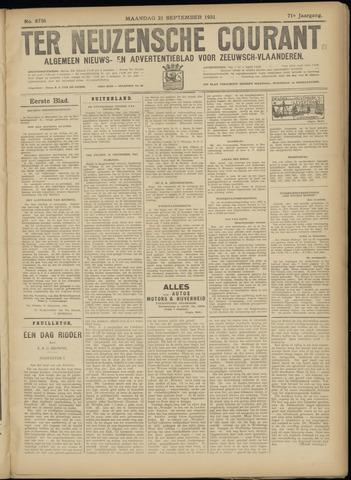 Ter Neuzensche Courant. Algemeen Nieuws- en Advertentieblad voor Zeeuwsch-Vlaanderen / Neuzensche Courant ... (idem) / (Algemeen) nieuws en advertentieblad voor Zeeuwsch-Vlaanderen 1931-09-21