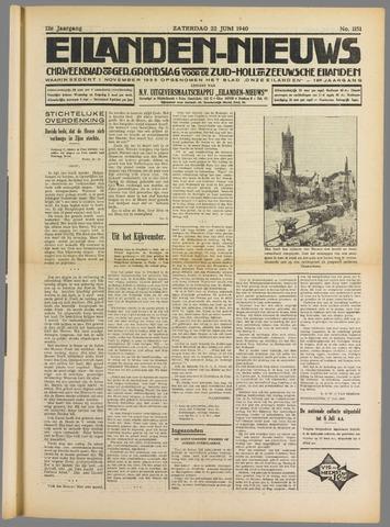 Eilanden-nieuws. Christelijk streekblad op gereformeerde grondslag 1940-06-22