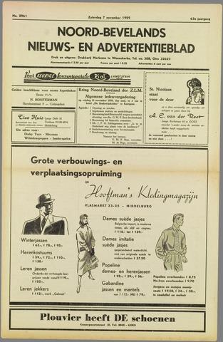 Noord-Bevelands Nieuws- en advertentieblad 1959-11-07