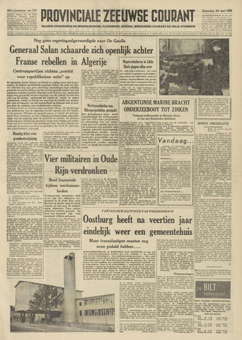 Provinciale Zeeuwse Courant 1958-05-24