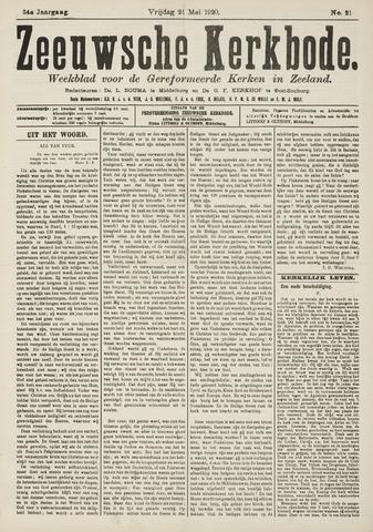 Zeeuwsche kerkbode, weekblad gewijd aan de belangen der gereformeerde kerken/ Zeeuwsch kerkblad 1920-05-21