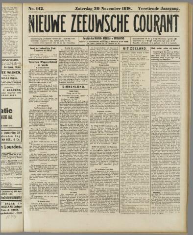 Nieuwe Zeeuwsche Courant 1918-11-30