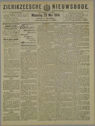 Zierikzeesche Nieuwsbode 1914-05-25