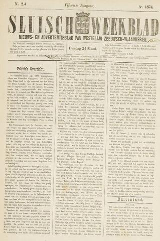 Sluisch Weekblad. Nieuws- en advertentieblad voor Westelijk Zeeuwsch-Vlaanderen 1874-03-24