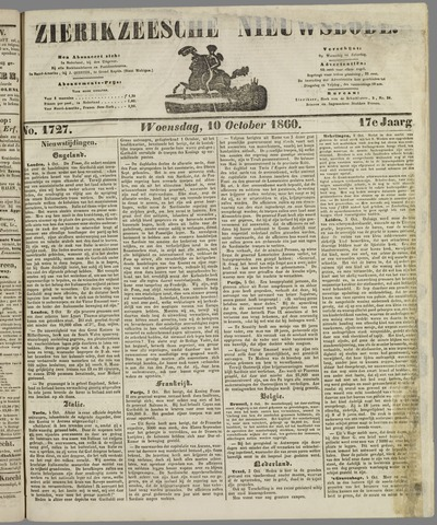 Zierikzeesche Nieuwsbode 1860-10-10