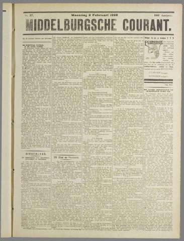Middelburgsche Courant 1925-02-02