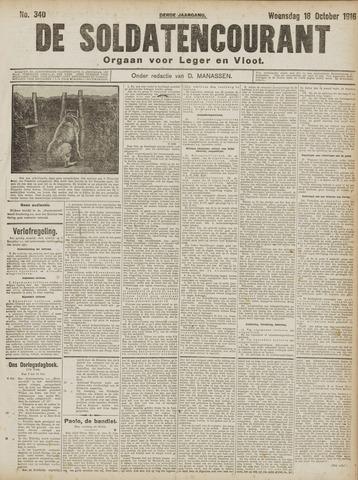 De Soldatencourant. Orgaan voor Leger en Vloot 1916-10-18