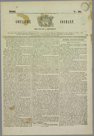 Goessche Courant 1850-12-09