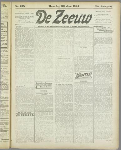 De Zeeuw. Christelijk-historisch nieuwsblad voor Zeeland 1924-06-30