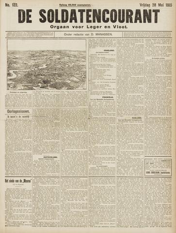De Soldatencourant. Orgaan voor Leger en Vloot 1915-05-28