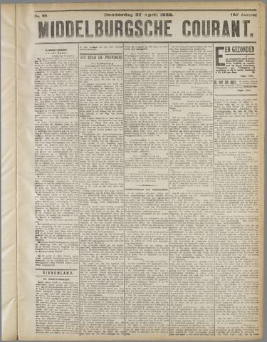 Middelburgsche Courant 1922-04-27