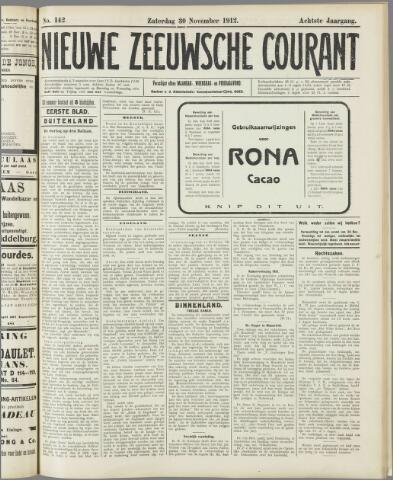 Nieuwe Zeeuwsche Courant 1912-11-30