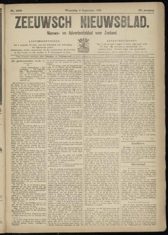 Ter Neuzensch Volksblad. Vrijzinnig nieuws- en advertentieblad voor Zeeuwsch- Vlaanderen / Zeeuwsch Nieuwsblad. Nieuws- en advertentieblad voor Zeeland 1918-09-04