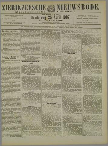 Zierikzeesche Nieuwsbode 1907-04-25