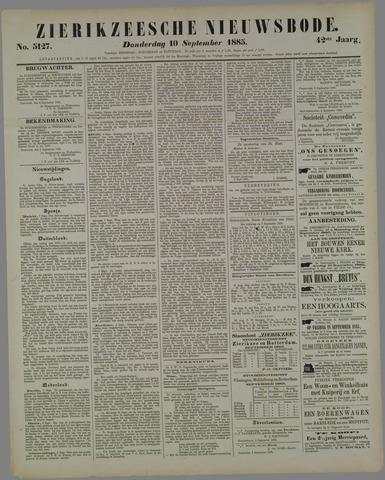 Zierikzeesche Nieuwsbode 1885-09-10
