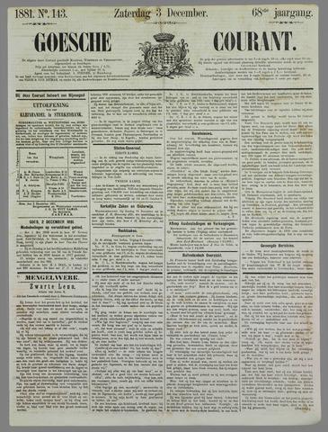 Goessche Courant 1881-12-03