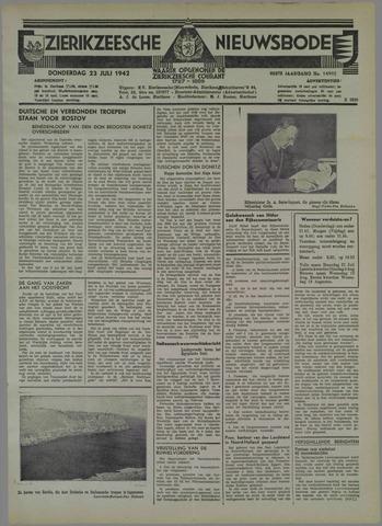 Zierikzeesche Nieuwsbode 1942-07-23