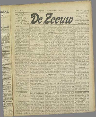 De Zeeuw. Christelijk-historisch nieuwsblad voor Zeeland 1919-09-05