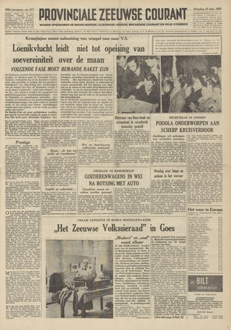 Provinciale Zeeuwse Courant 1959-09-15