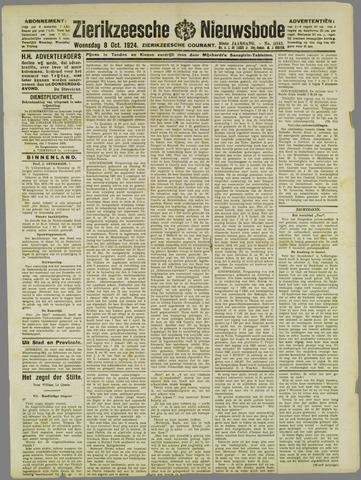 Zierikzeesche Nieuwsbode 1924-10-08