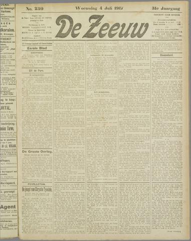 De Zeeuw. Christelijk-historisch nieuwsblad voor Zeeland 1917-07-04