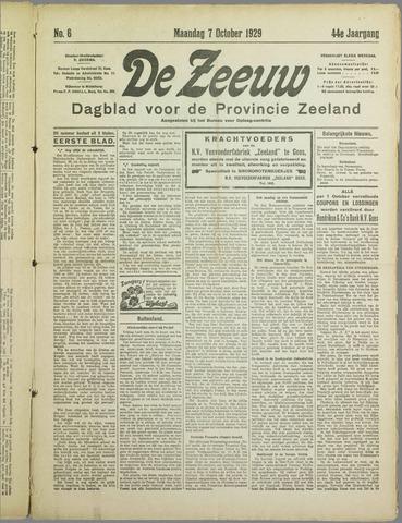 De Zeeuw. Christelijk-historisch nieuwsblad voor Zeeland 1929-10-07